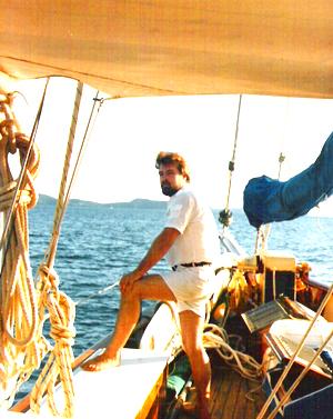 Winning the yacht show aboard the schooner Orianda