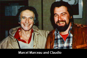 Claudio and Marcel Marceau