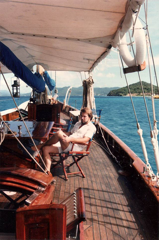 Chef Claudio years working in Caribbean Virgin Islands as yacht chef